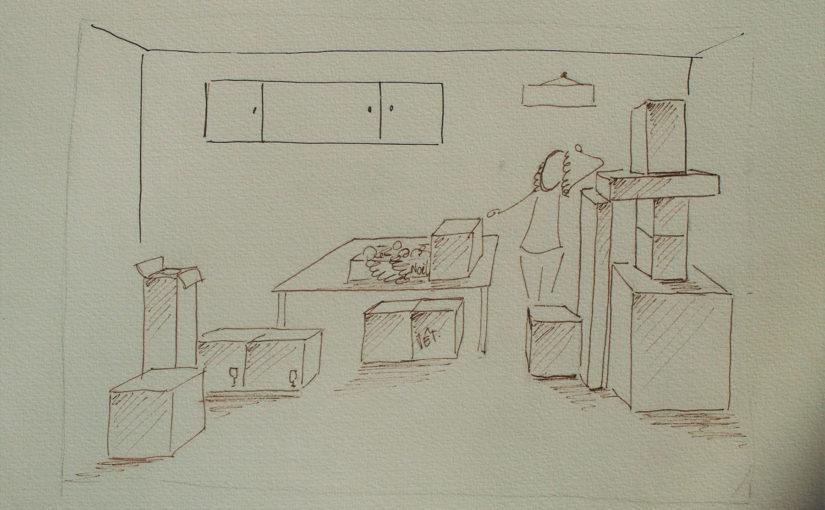 Comment mettre en scène la perspective en dessinant des cartons ou boîtes ?