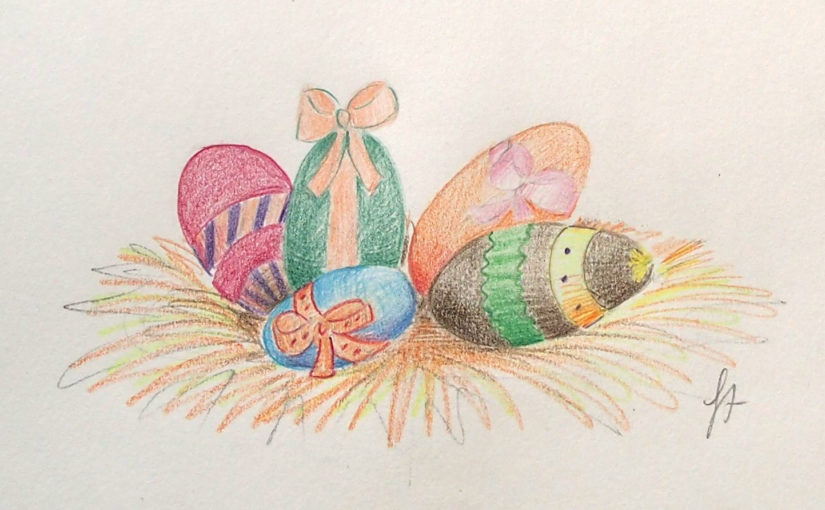 Comment dessiner des œufs de Pâques en volume ?