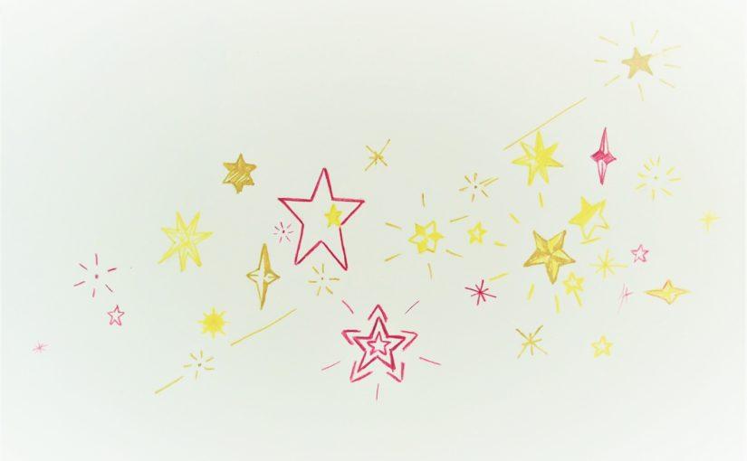 Dessin d'imagination : la tête dans les étoiles !