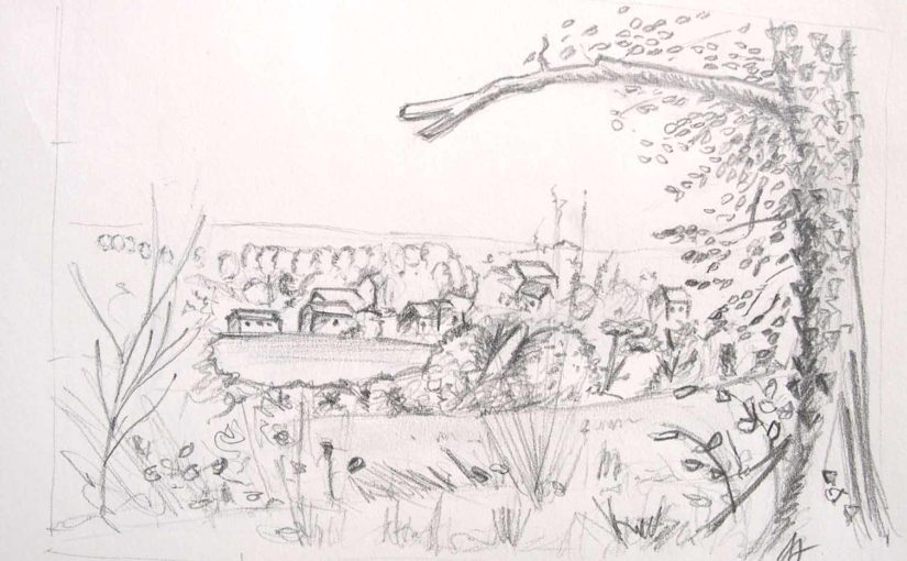 comment dessiner un paysage, cadrer un sujet, composer un dessin formation en ligne de dessin