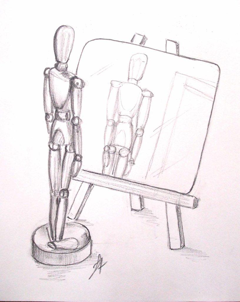 apprendre-a-dessiner-cours-de-dessin-en-ligne-reflets-miroir-resultat