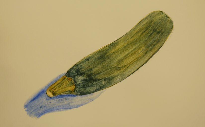 Comment dessiner un légume : la courgette ?