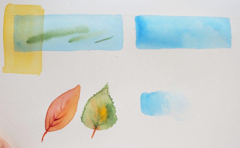 Quelques bases en aquarelle…