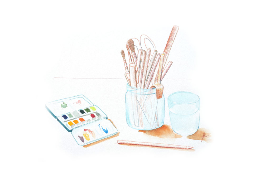 bases-en-dessin-aquarelle-crayon-de-couleur
