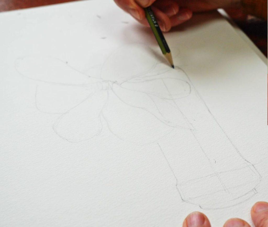 comment-dessiner-fleur-bouquet-bocal