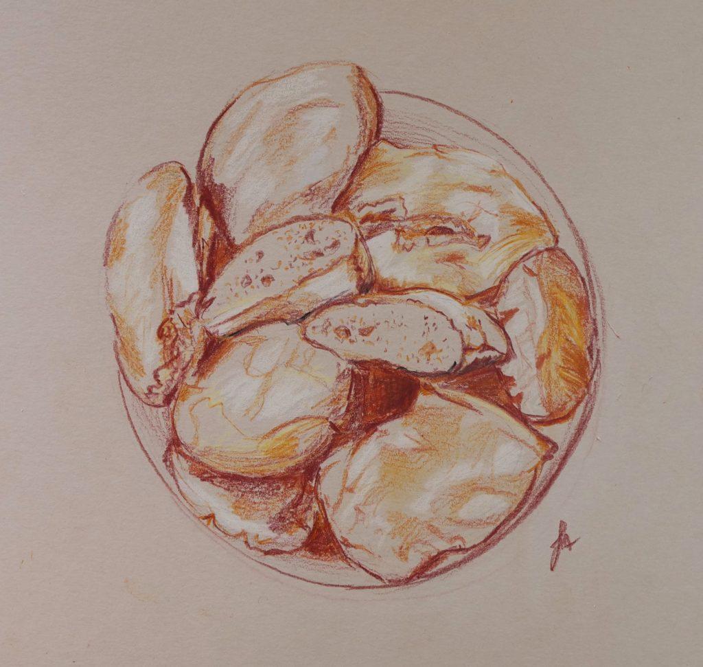 dessin-pain-papier-kraft-crayon-de-couleur