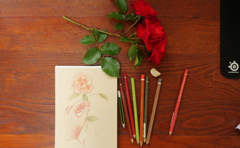 Comment dessiner une main tenant une rose ?