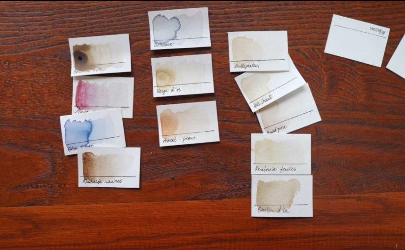 Comment trier et choisir ses couleurs ? Aquarelle, crayons de couleur et encres naturelles.