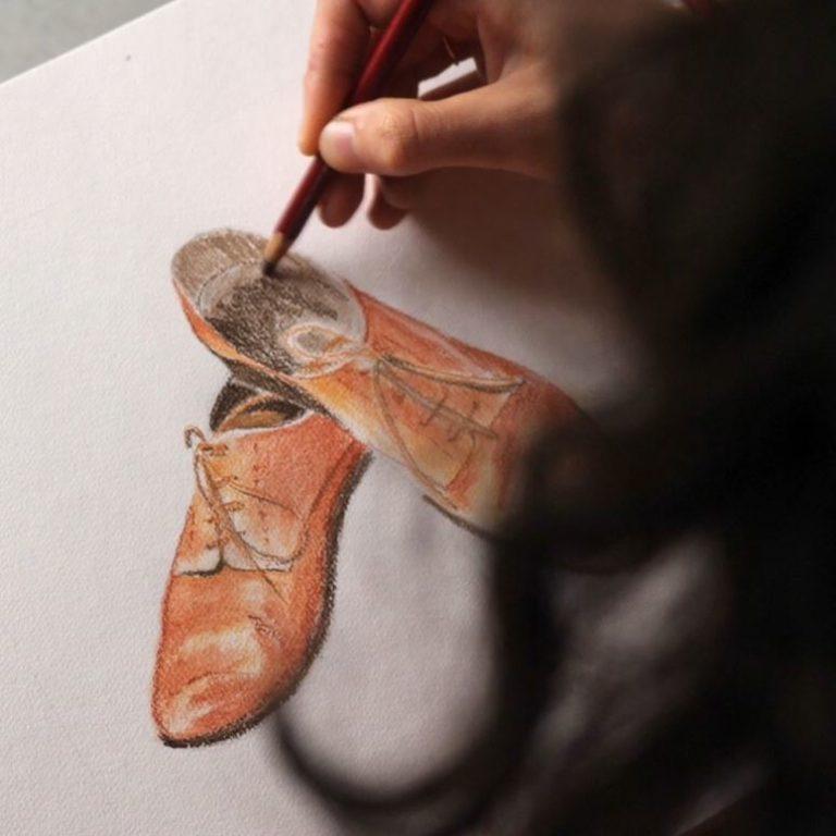 comment-dessiner-chaussures-pastels-secs-couches-cours-en-ligne