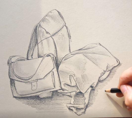 Comment dessiner le volume de sacs ?