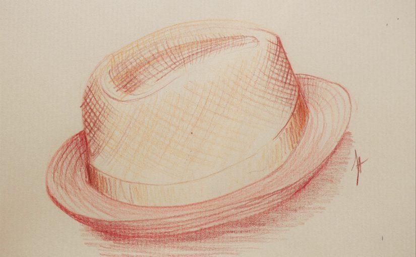 Comment dessiner un chapeau – crayons de couleurs ?