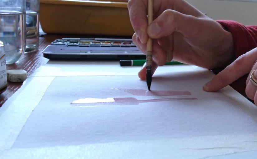 Intensifier ses couleurs à l'aquarelle et à l'encre