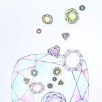 10. Diamants - couleurs claires - modèle - carnet A4 - coloré - avec fond - carnet-de-coloriage