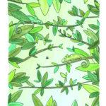 6. Caméléon-monochrome - modèle - carnet A4 - coloré - avec fond - carnet-de-coloriage