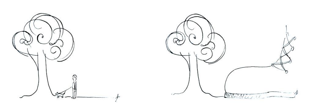 comment-dessiner-arbre-homme-chien-cours-de-dessin-en-ligne-echelle